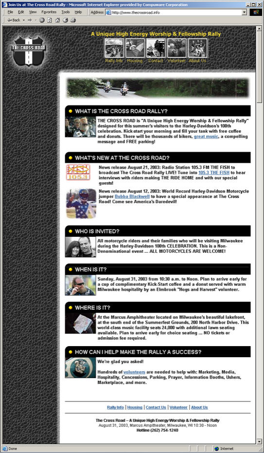 The Cross Road Rally Home Page