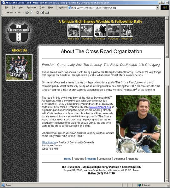 About the Cross Road Organization