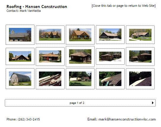 Sample Hansen Construction Project Photo Gallery