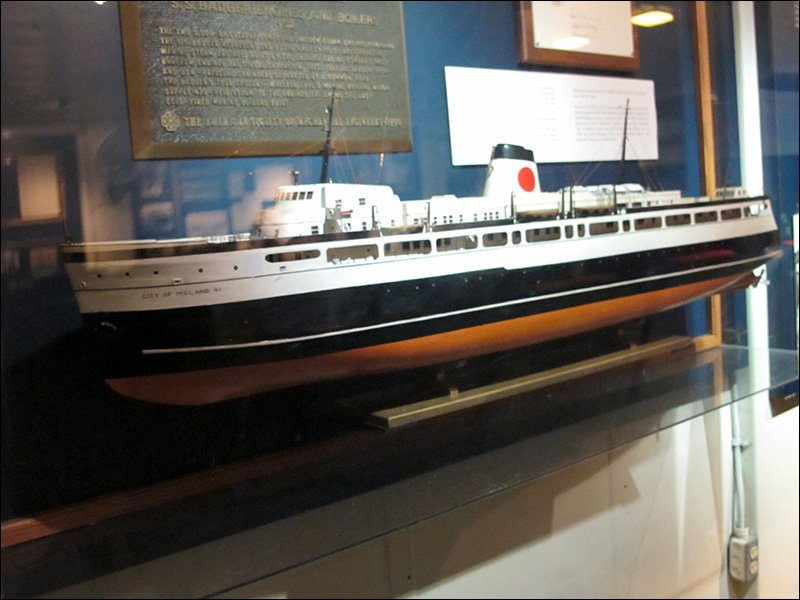 S.S. City of Midland car ferry model
