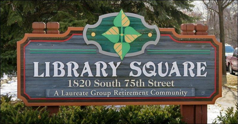 Library Square Sign