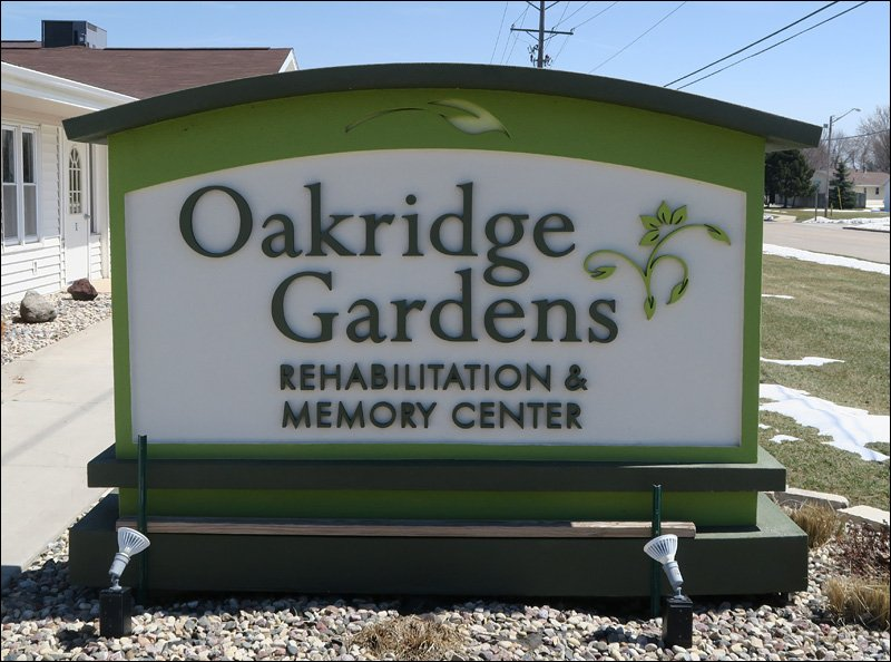 Oakridge Gardens Sign
