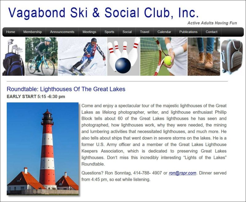 Vagabond Ski & Social Club Event Announcement