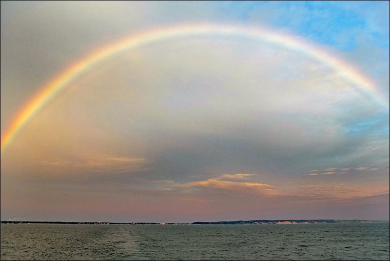 Full Rainbow Over Ludington
