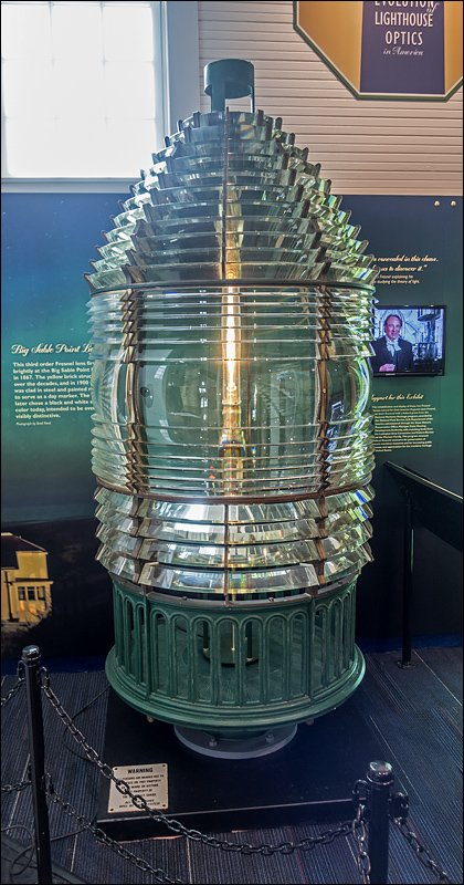 Third Order Fresnel Lens from Big Point Sable Lighthouse
