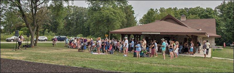 Outdoor Worship Service at the Zaun Pavilion