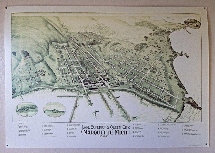 Marquette Map - 1897