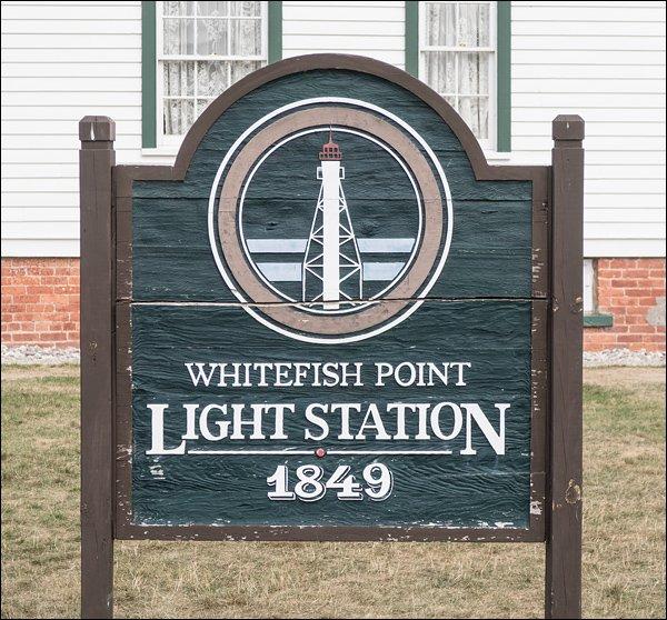 Whitefish Point Light Station Sign
