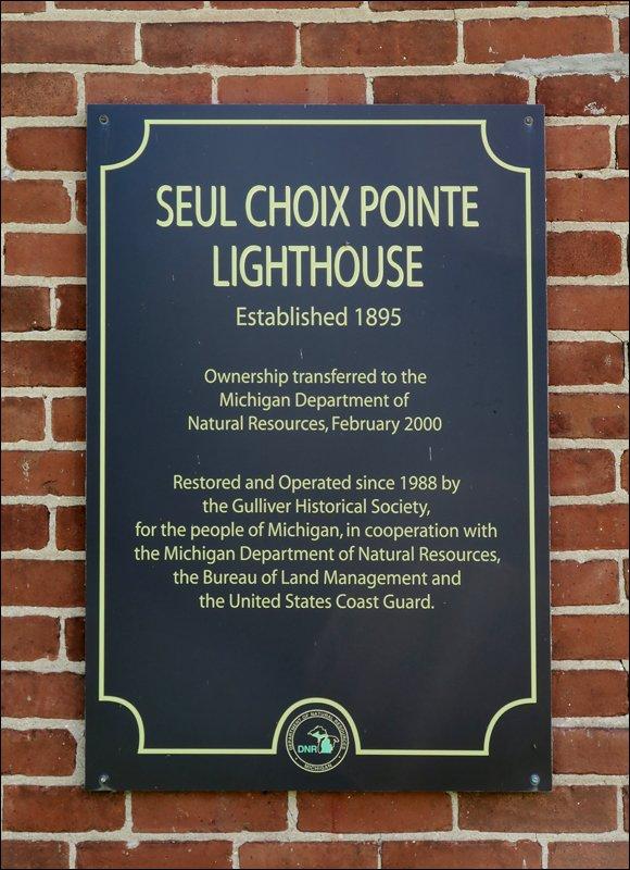 Seul Choix Pointe Lighthouse Certification Plaque