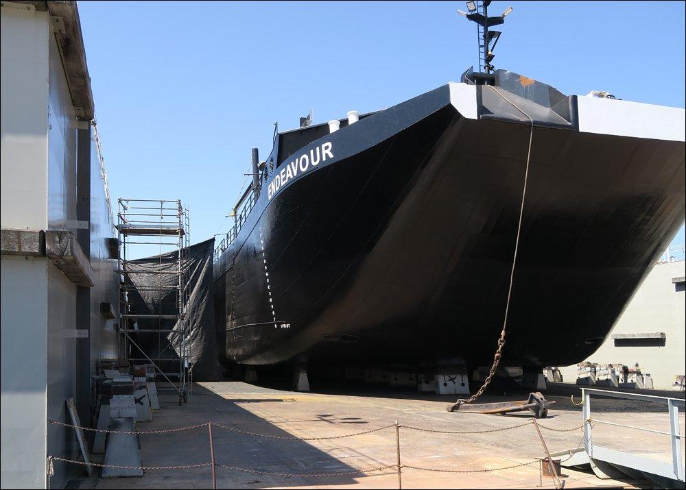 339' Liquid Tank Barge Endeavour in Floating Drydock