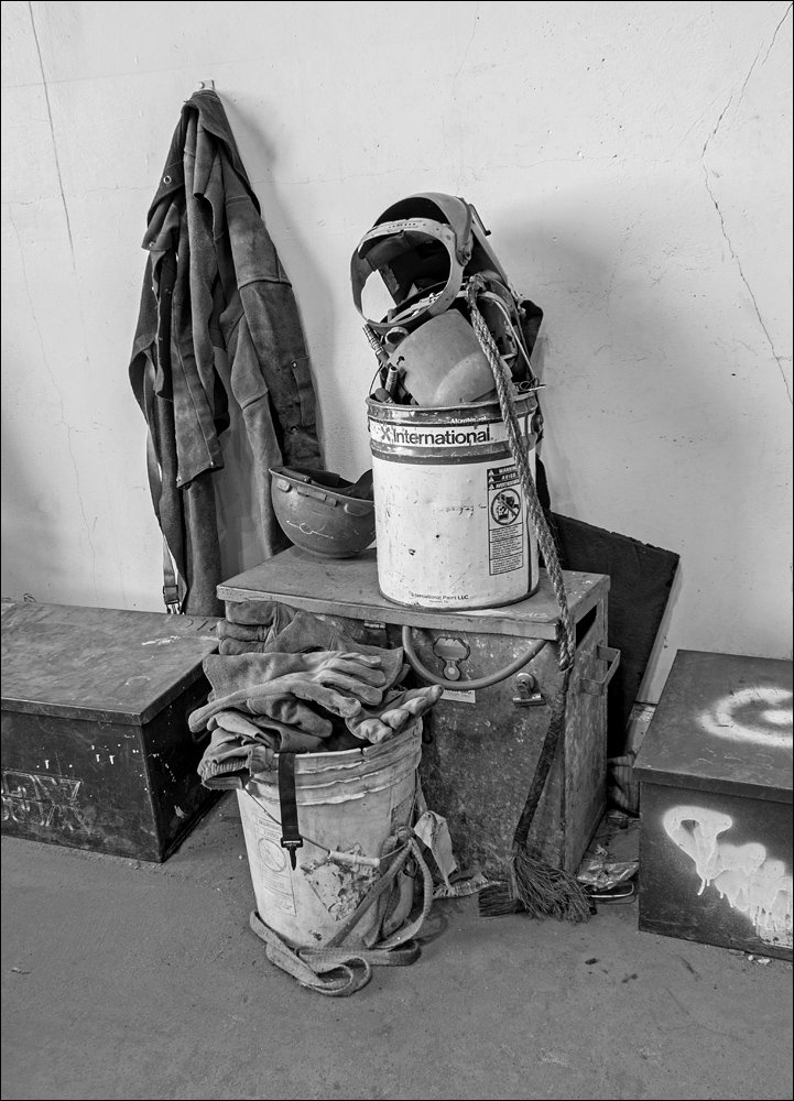Welder's work clothes and equipment
