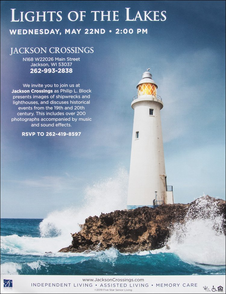 Flyer Promoting Lights of the Lakes at Jackson Crossings