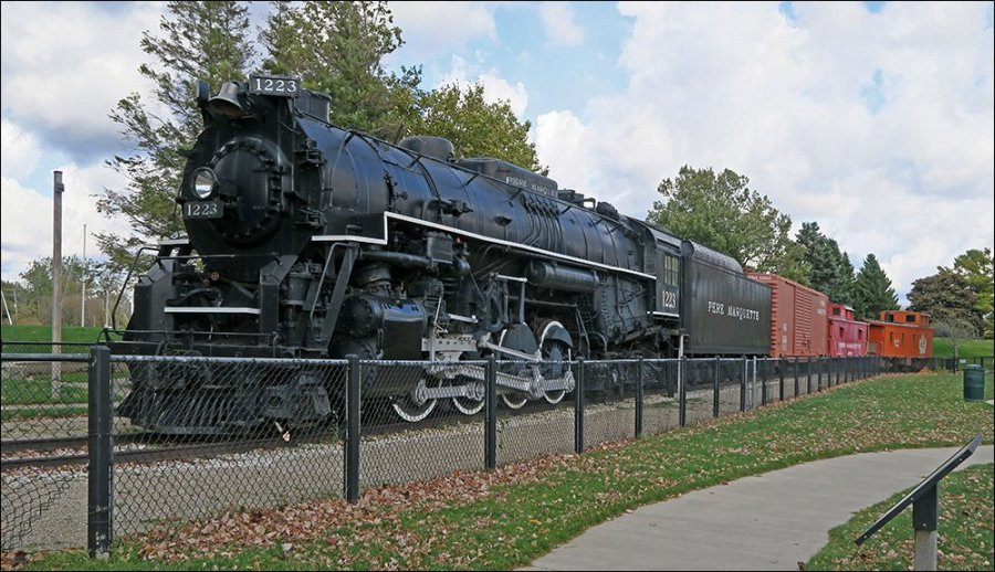 Pere Marquette #1223 steam locomotive