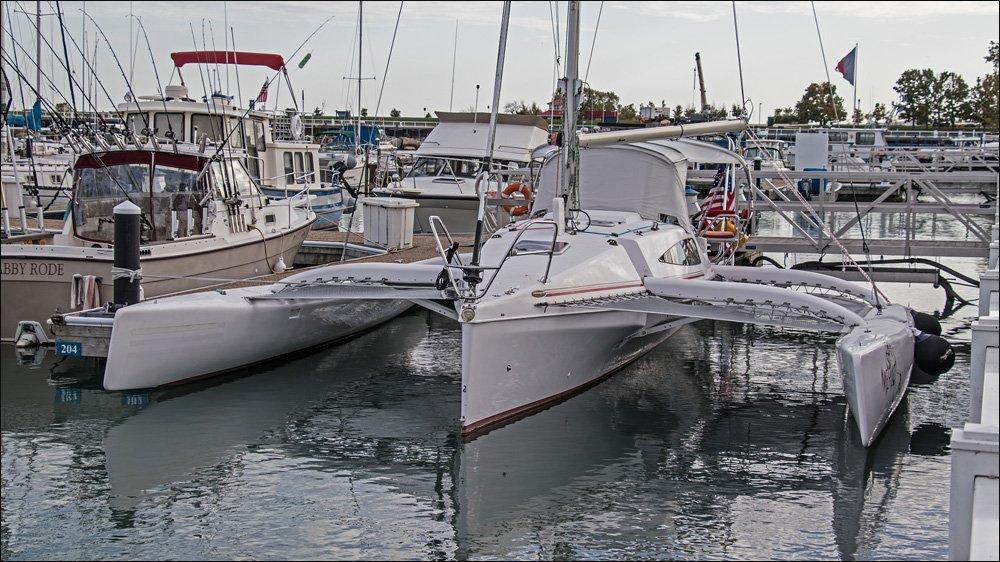 Trimaran in Port Washington Marina