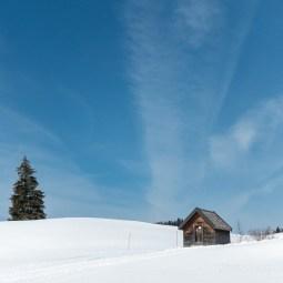Cabane sur une colline du Jura