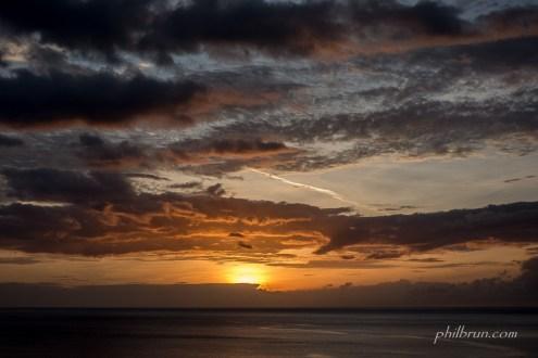 Ciel au coucher du soleil Caraïbes