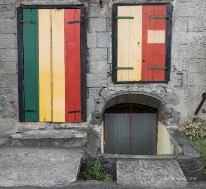 Maison aux couleurs reggae