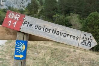 Panneau GR11 Puente de los Navarros