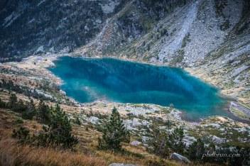 Le refuge et le lac d'Estom