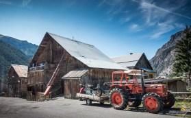 Le village de Ceillac est composé de fermes traditionnelles