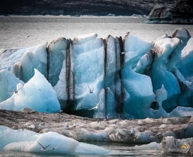 La glace montre son histoire