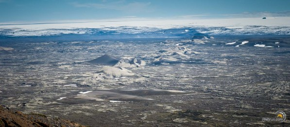 Panorama volcanique depuis le sommet du Laki