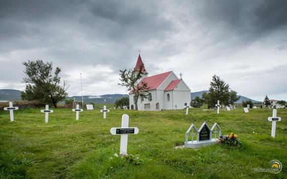 Le cimetière est très dispersé. Il faut dire qu'ici on ne manque pas de place !