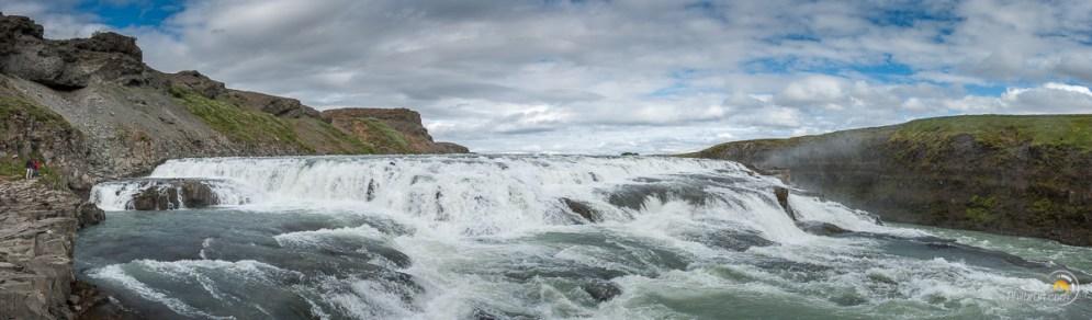 Panoramique de la dernière chute de Gullfoss