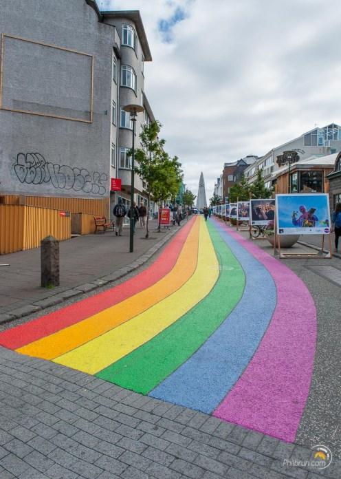 Une rue de Reykjavik