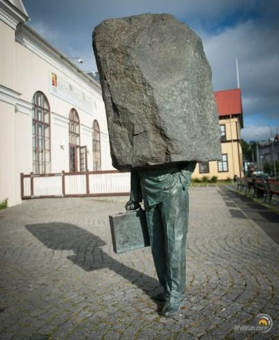 Reykjavik statue de l'homme moderne !