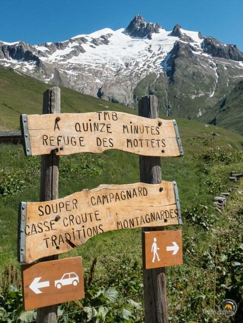 Panneaux à la Ville des Glaciers