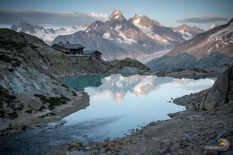 Le Lac Blanc et le refuge du même nom