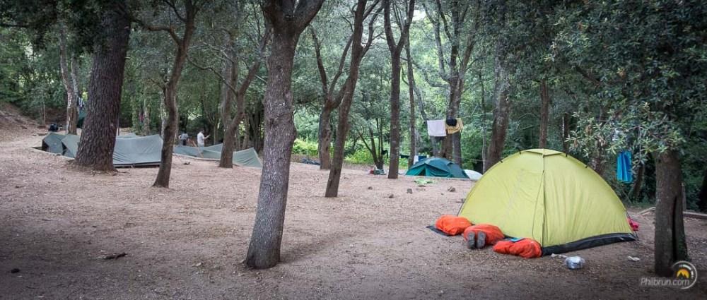Le terrain de camping de la Tonnelle à Conca