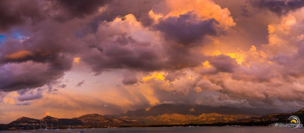 Ciel d'orage à Calvi