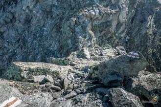 Col de Wasulicke. La descente à gauche est impressionnante