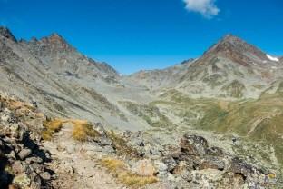 La montée au col de Augsthordpass
