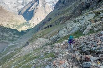 La vallée de Chardonney et au fond le parcours de la veille