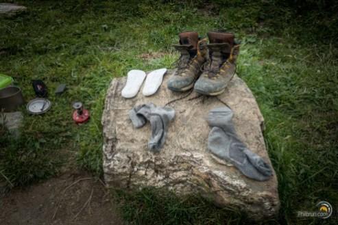 Séchage des chaussures et chaussettes