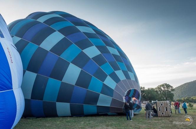 montgolfiere gonflee