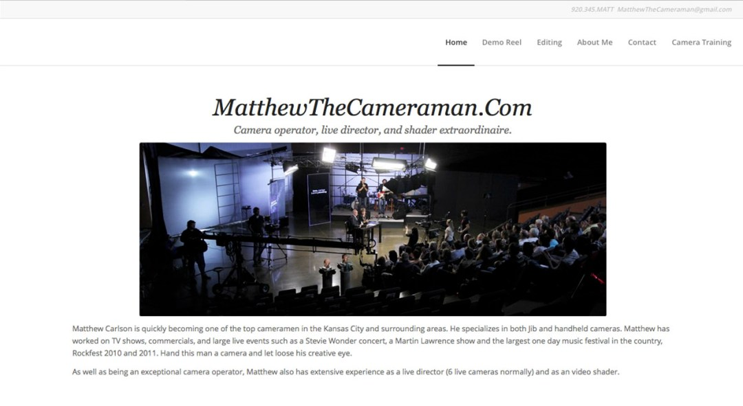 Matthew The Cameraman