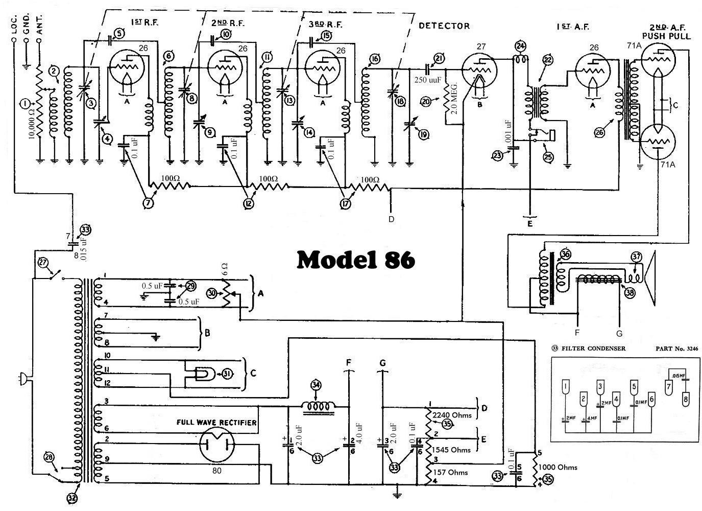 Wiring Diagram Philco