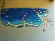 Dive map of Bahiá Pulmo.