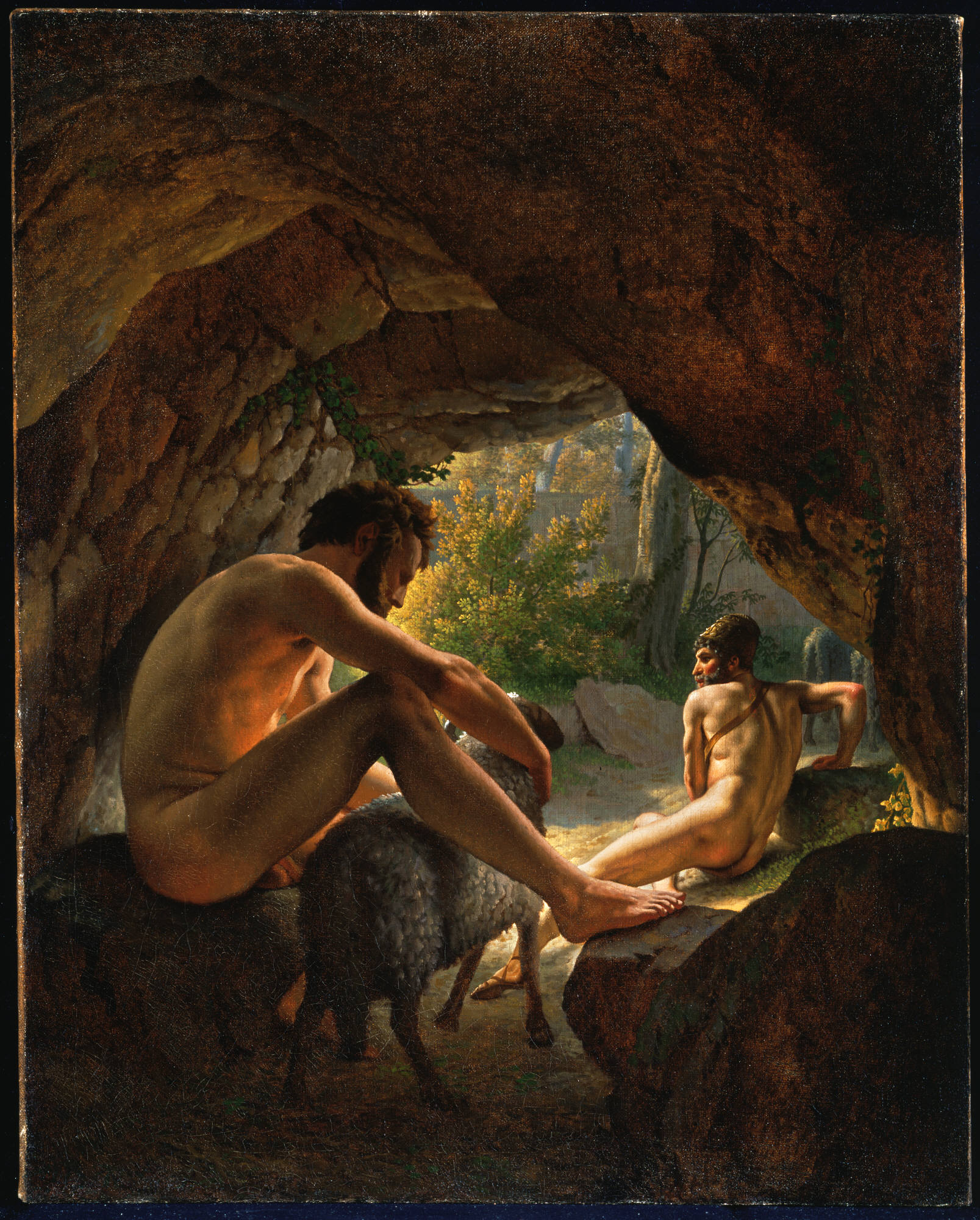 09 Eckersberg,_Christoffer_Wilhelm,_Ulysses_Fleeing_the_Cave_of_Polyphemus,_1812
