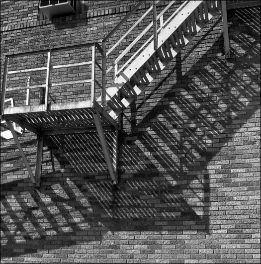 Fire escape, Cafe Texan, Huntsville