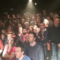 My view from the stage at Certain General's concert a L'Ubu in Rennes, France.