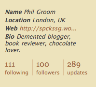 Nearly famous now - 100 followers!