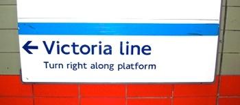 Victoria Line Turn Right