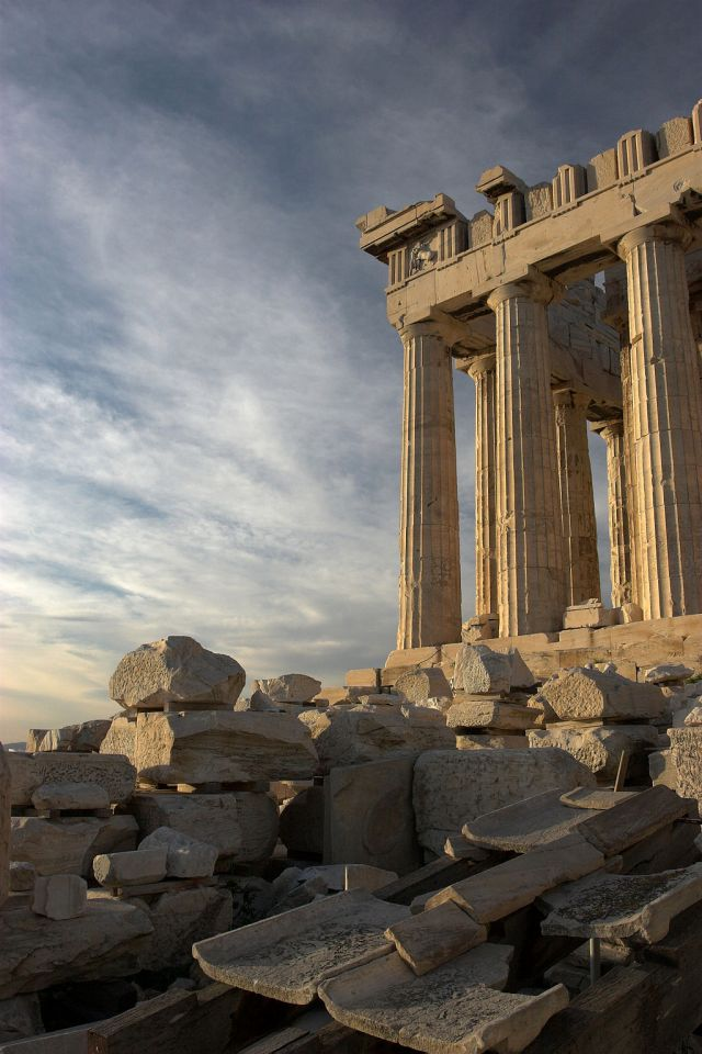 A photograph of the Parthenon