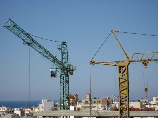 Cranes in Heraklion harbour