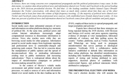 News and Political Information Consumption in Mexico: Mapping the 2018 Mexican Presidential Election on Twitter and Facebook